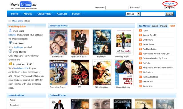 Click On Register Indicated Below To Let The Browser Redirect You An Account At Http Www Movieforum Cc Php